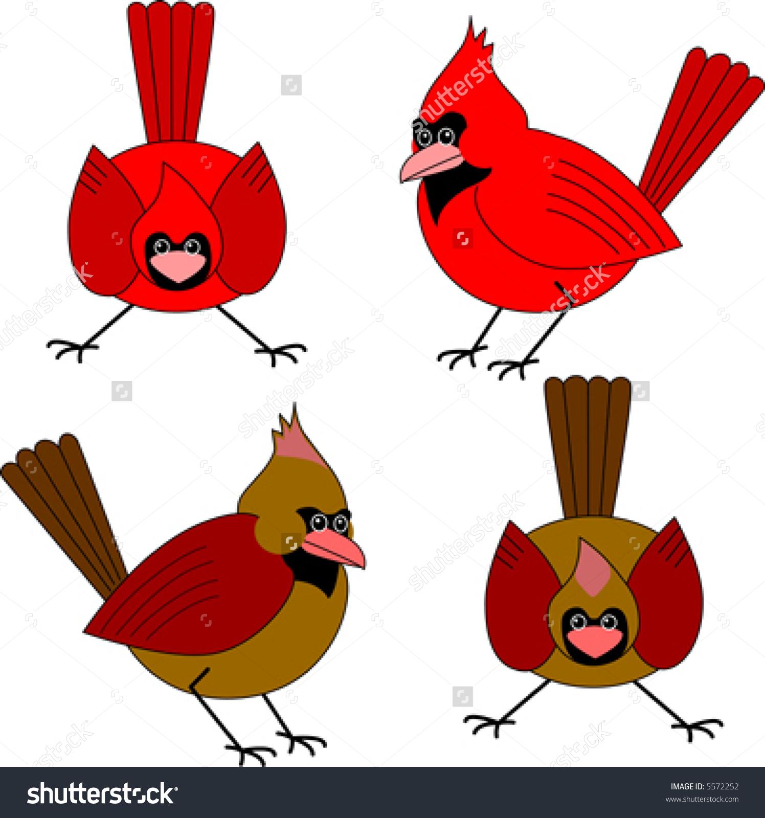 1496x1600 Male cardinal clipart