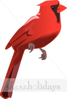 262x388 Winter Cardinal Winter Wildlife Clipart