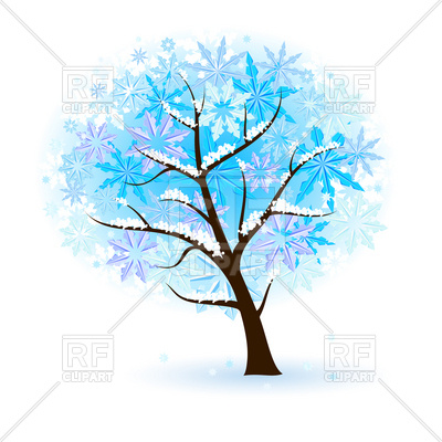 400x400 Stylized Winter Tree Royalty Free Vector Clip Art Image