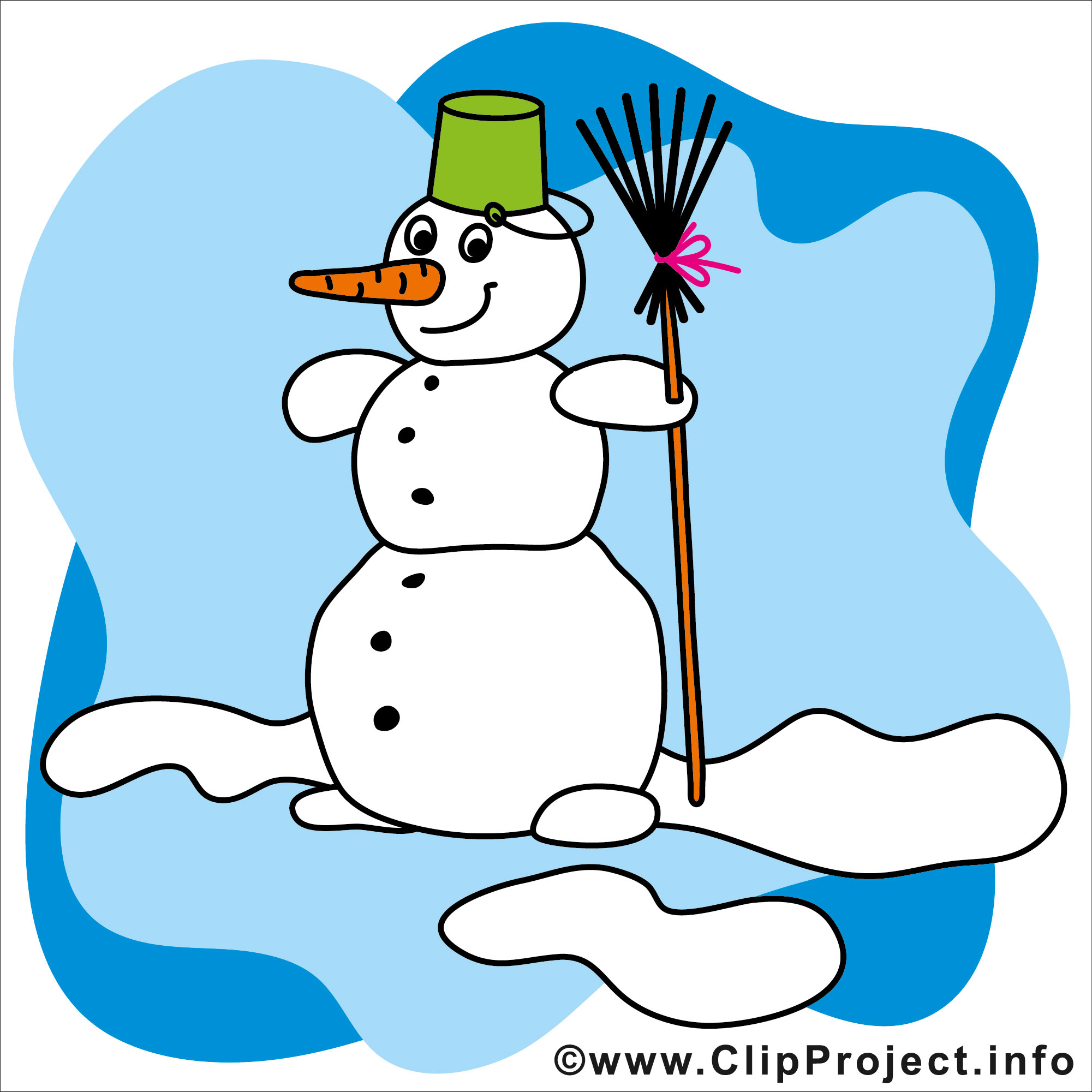 2001x2001 Cartoon Snowman