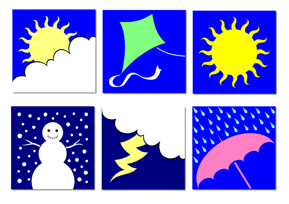 960x678 Summer And Winter Clipart