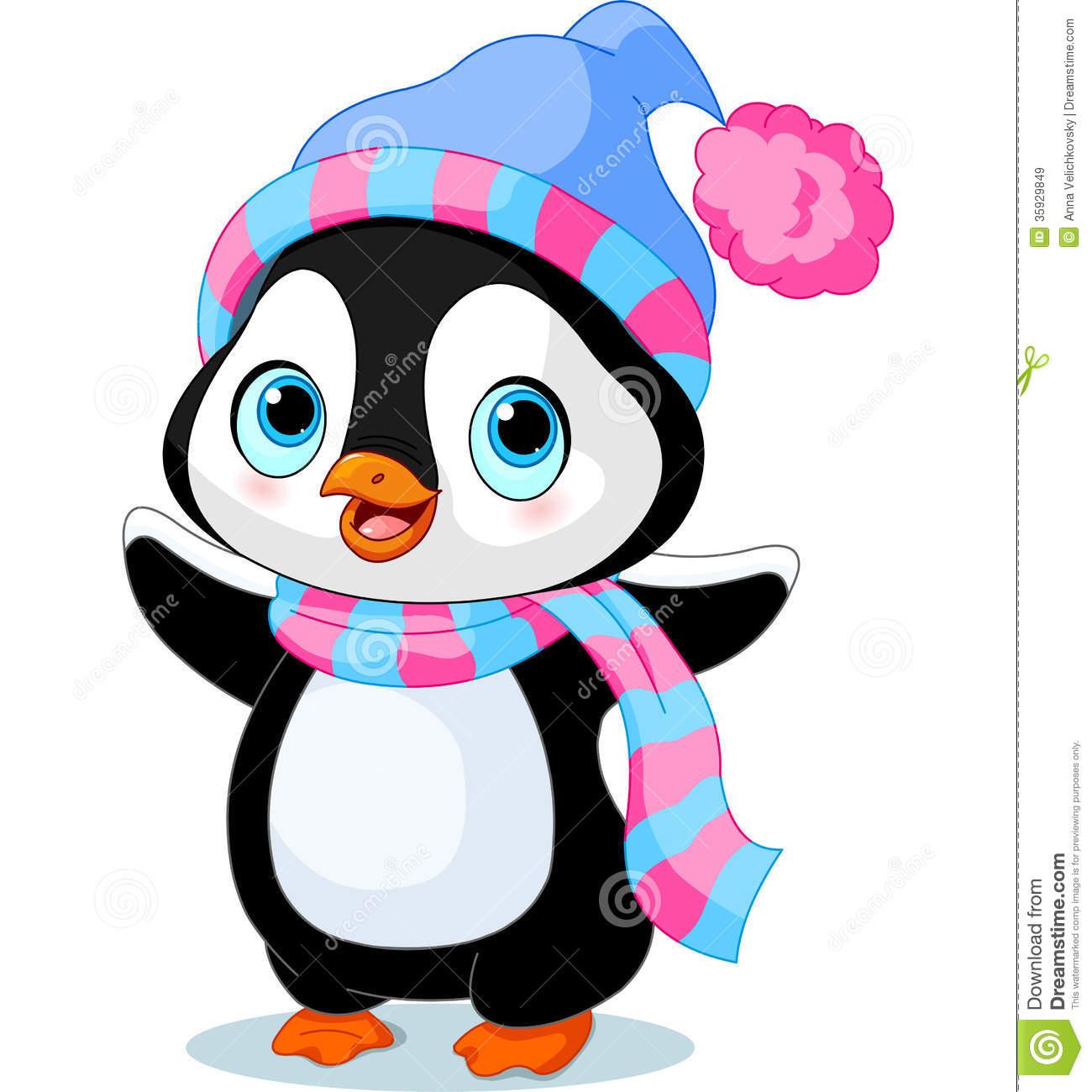 1300x1300 girl penguins clipart