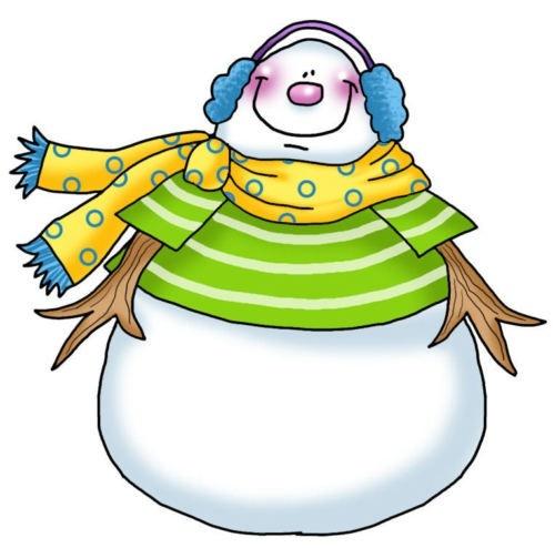 500x494 Clip Art Cute Snowman Clipart