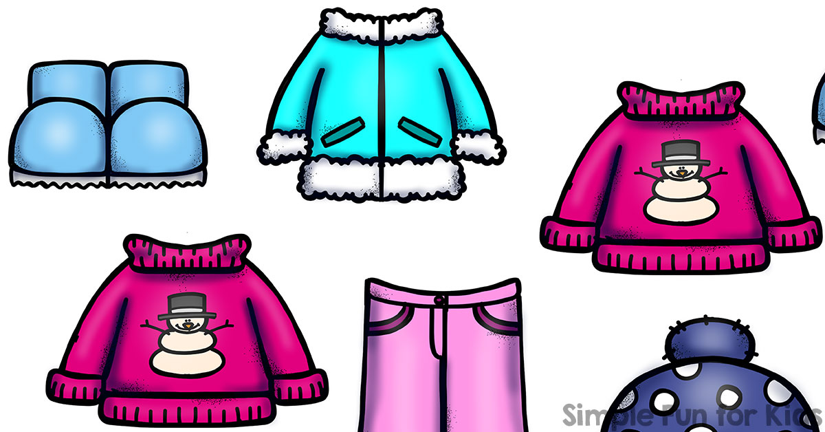 Winter Clothes Clipart | Free download on ClipArtMag