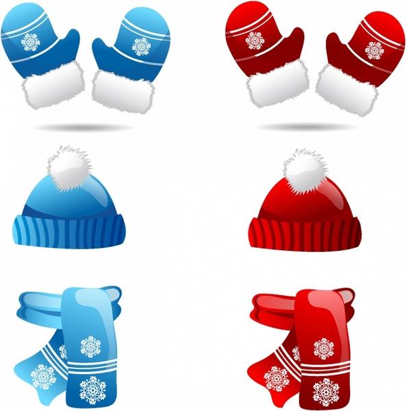 593x600 Winter Clothes Free Vector In Adobe Illustrator Ai ( Ai