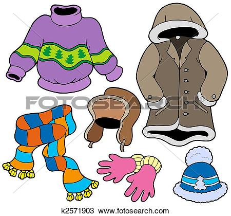 450x420 Winter clothing clipart