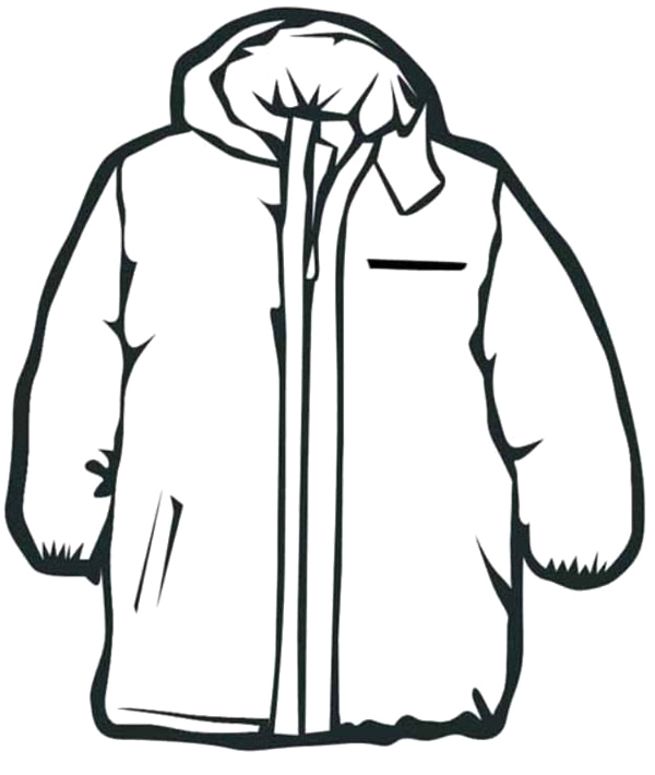 600x710 Coat Winter Clothes Coloring Pages to print for kids Denenecek