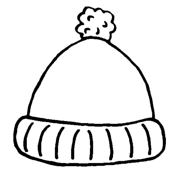 600x569 Cute Hat For Winter In Winter Clothing Coloring Page Coloring Sun