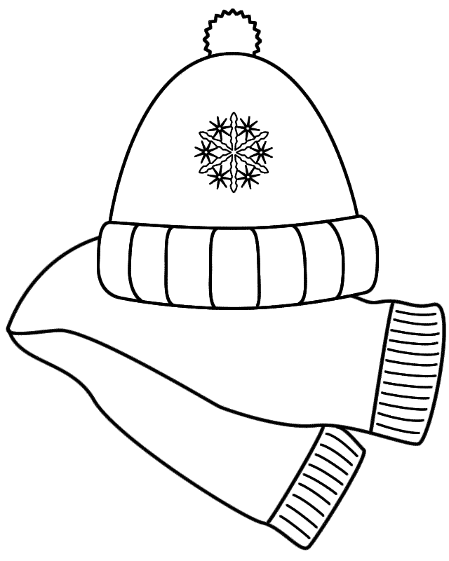 640x800 Winter hat winter scarf clip art