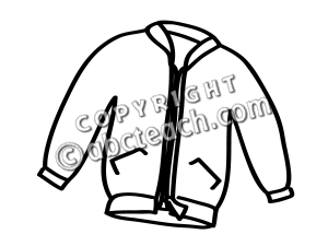 300x225 Black And White Jacket Clipart