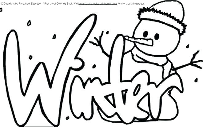 660x414 Winter Coloring Pages For Preschool Coloring Page Winter Winter