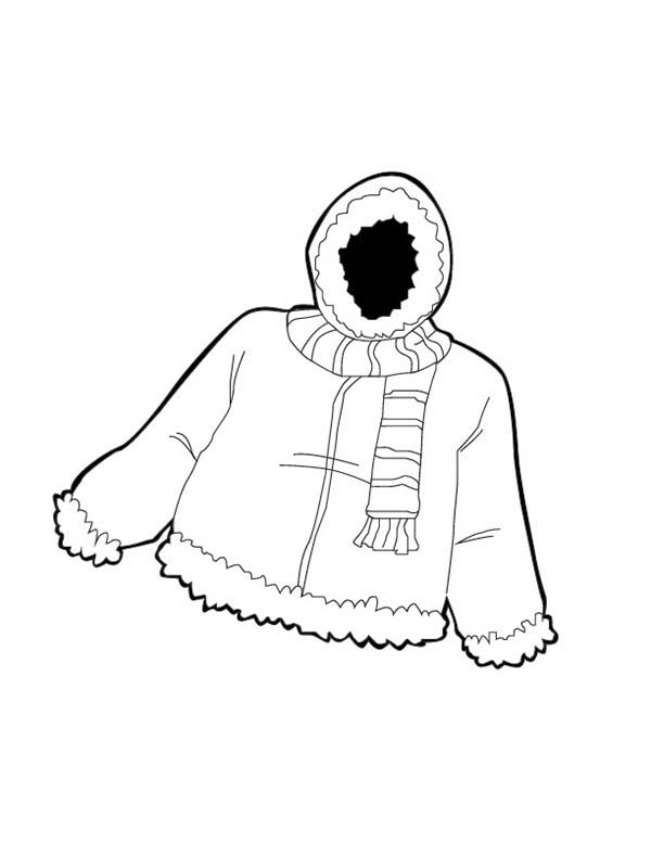 Winter jacket clipart free download best winter jacket for Fall clothes coloring pages