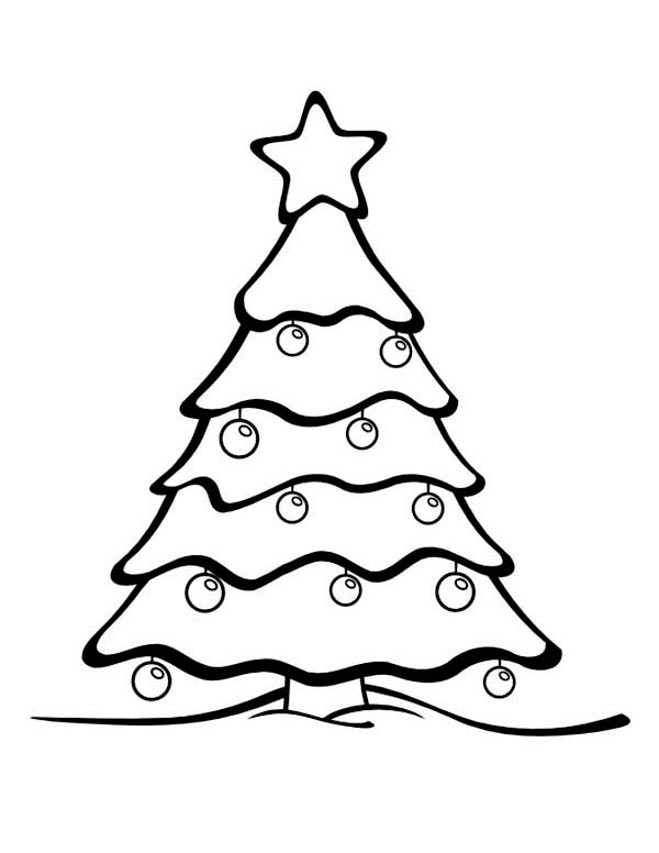 Coloring Book Images Of Christmas Trees Pusat Hobi
