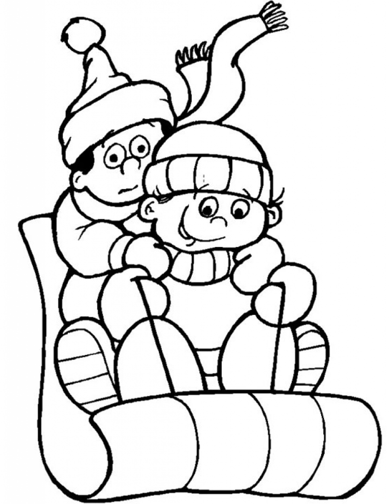 Winter Season Colouring Pages | Free download best Winter Season ...