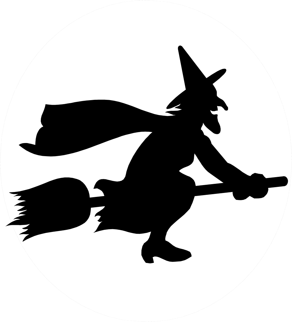 958x1058 Illustration Of A Witch Flying On A Broomstick Free Stock Photo