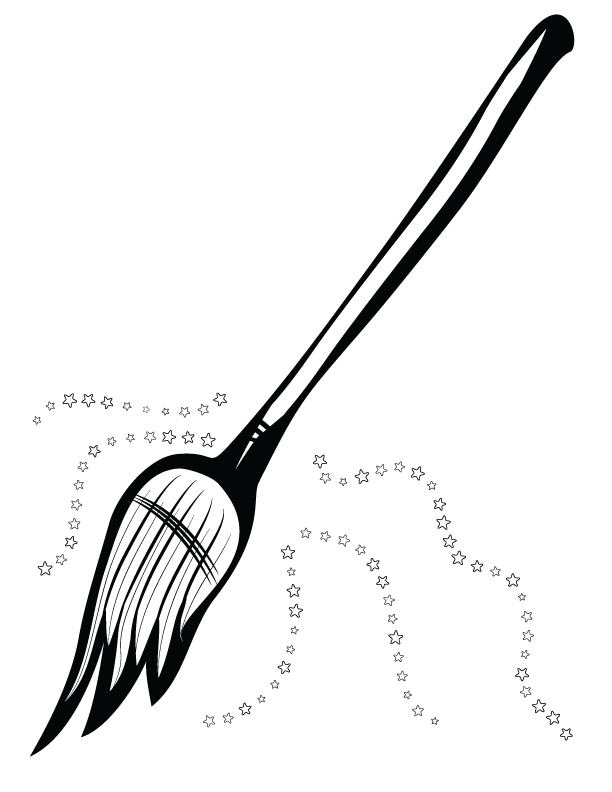 612x792 Witch Broom Clip Art In Png And Svg Creation Creatures