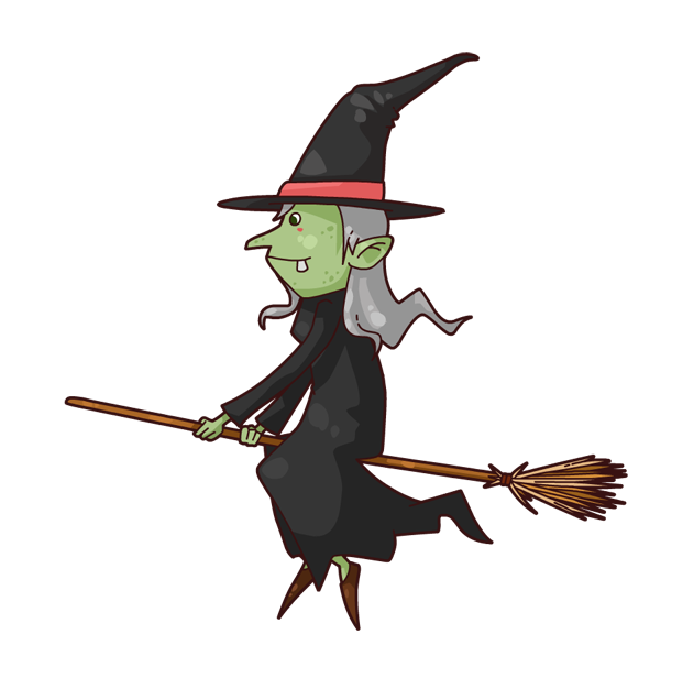 631x616 Witch Clipart Broom Cartoon