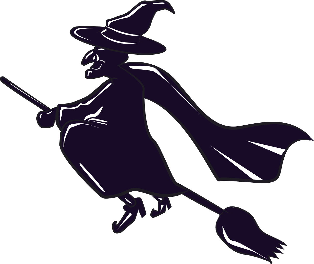 1295x1087 Witch On Broom Clipart Clipart