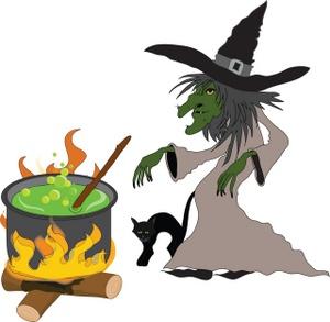300x293 Witch Cauldron Clipart Kid