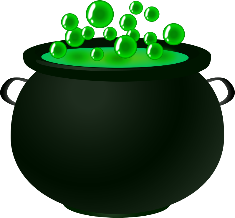 798x740 Witch Clipart Bubbling Cauldron