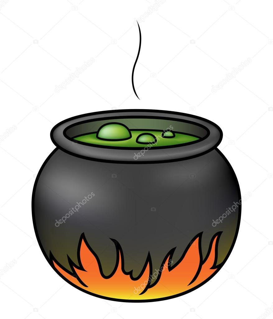 878x1023 Witches' Cauldron Stock Vector Avelkrieg