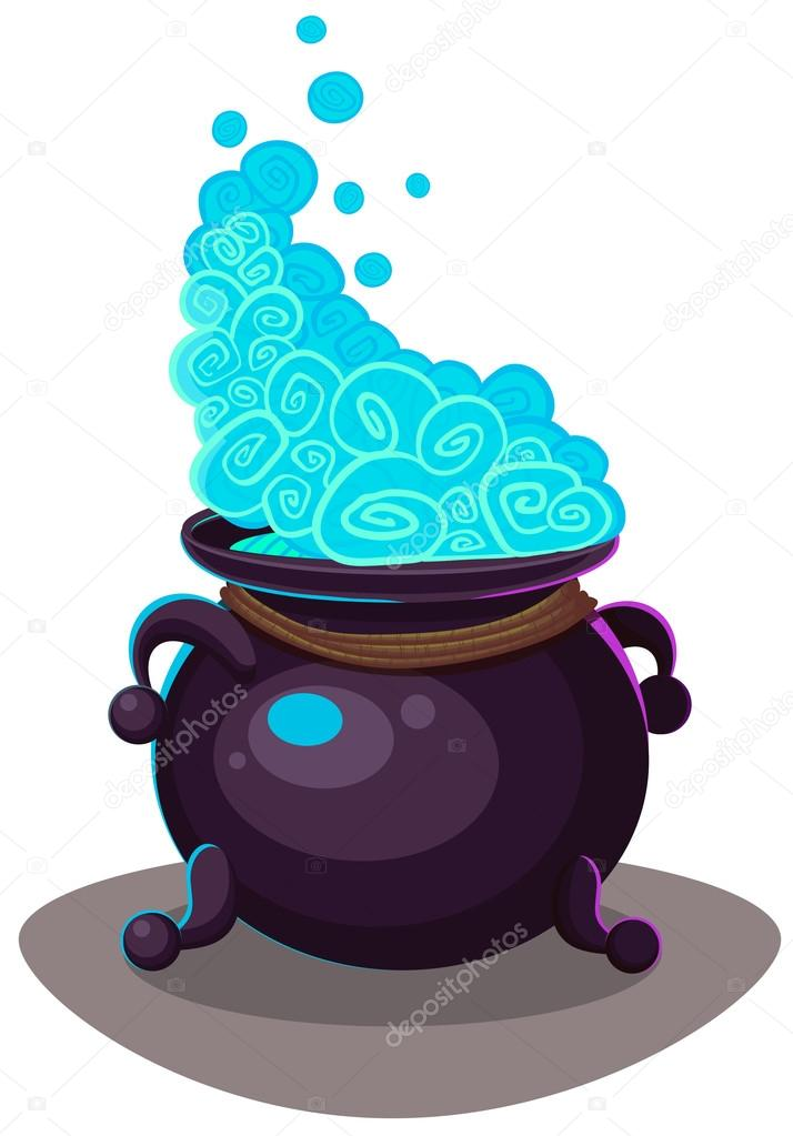 714x1023 Witches Cauldron For Halloween Cards. Vector Clip Art Illustrati