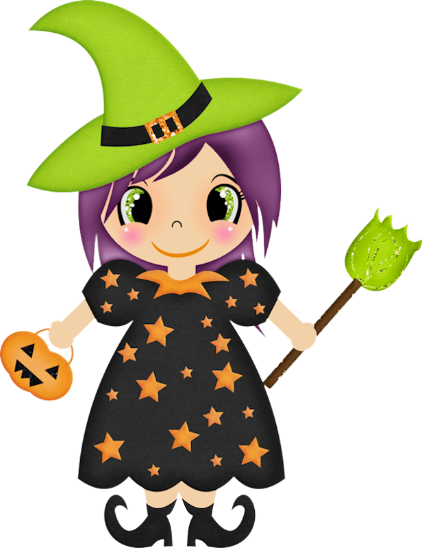 616x800 Halloween Witch Clip Art