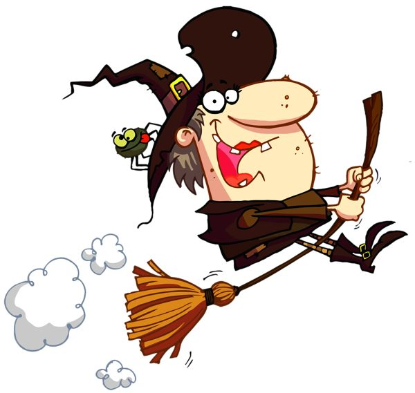600x569 Halloween Witch Clipart