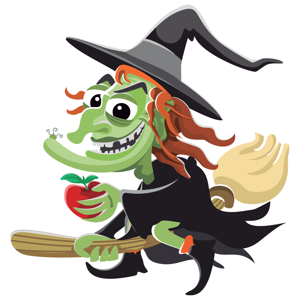 1000x1000 Free Funny Looking Witch Clip Art