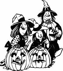 208x232 Free Witch Clipart
