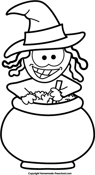 320x588 Halloween Witch Clipart Black And White