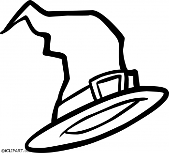 350x316 Witch Hat Clipart Black And White