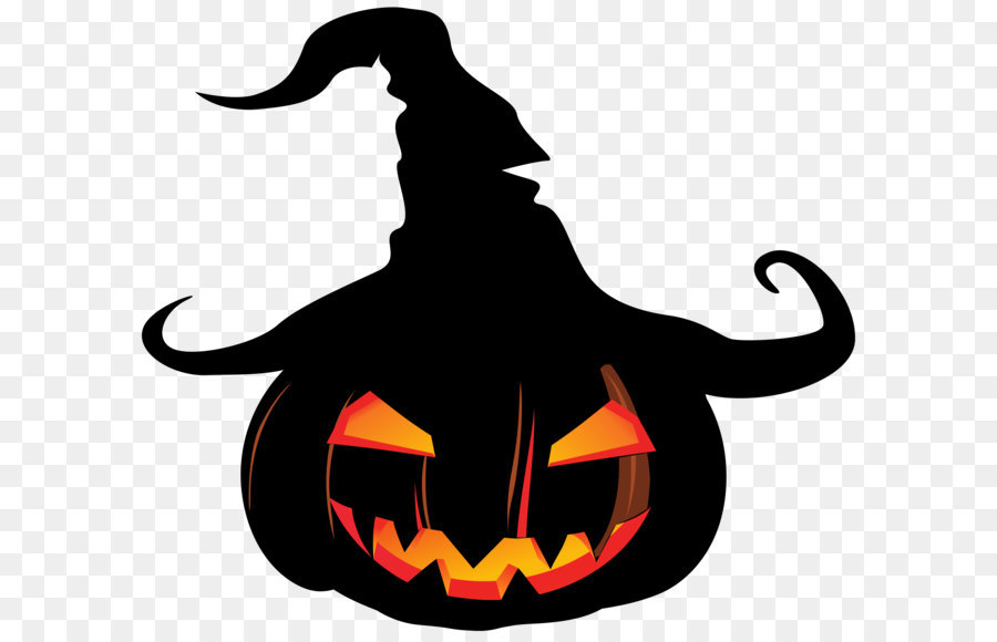 900x580 Pumpkin Jack O' Lantern Witch Hat Clip Art