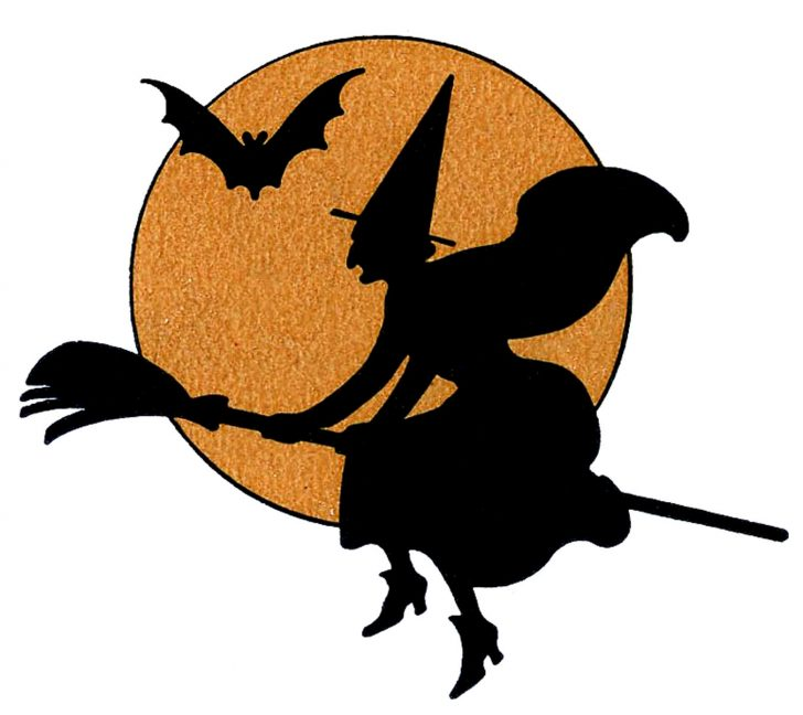 728x648 Halloween Creepy Witch Clipart Clipartix Picture Of A Flying
