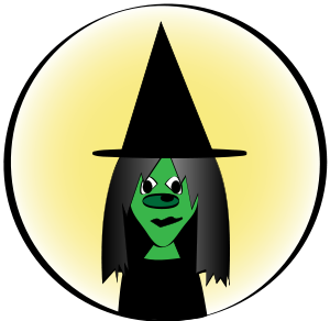 300x292 Witch Hat Clipart Witch Face