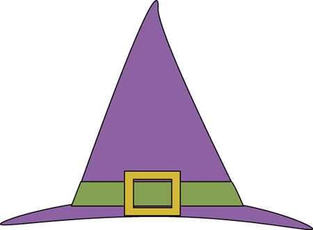 450x331 Purple Witches Hat Clip Art