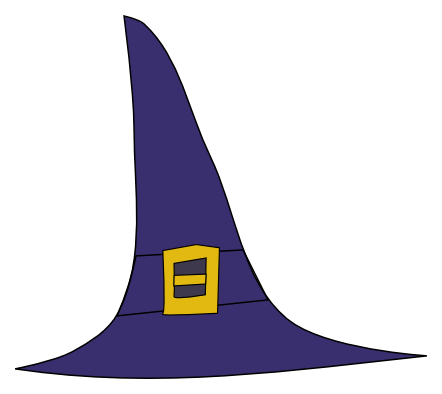 442x394 Witch Hat Clipart Pippi's Clipart