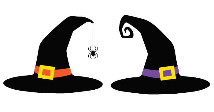 700x366 Witch Hat Cut Files + Clip Art