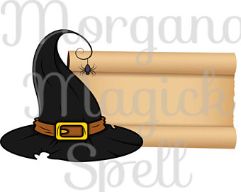 340x270 Witch Hat Clip Art Etsy