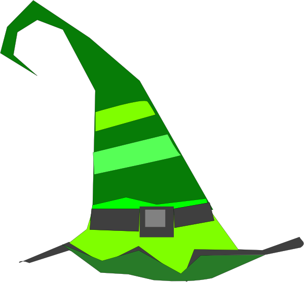 600x557 Green Witch Hat Clip Art