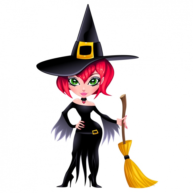 626x626 Witch Character Design Vector Free Download