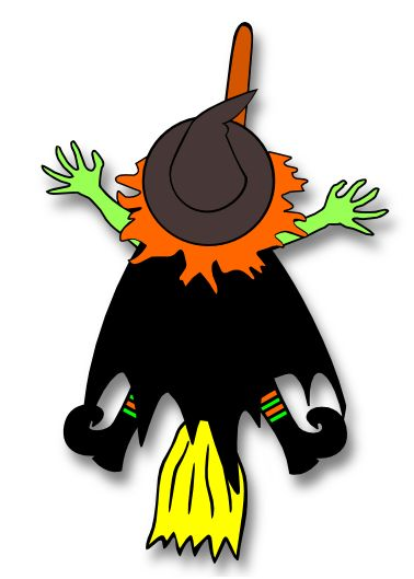 378x529 Crashing Witch Clipart