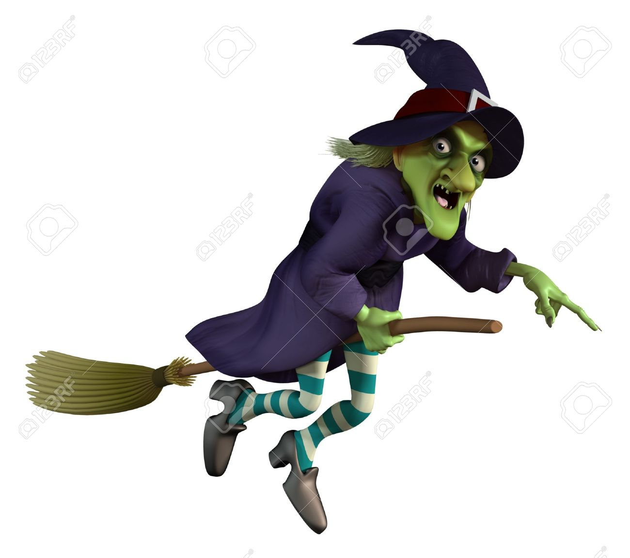 1300x1151 Flying Witch On A Broom Stock Photo, Picture And Royalty Free