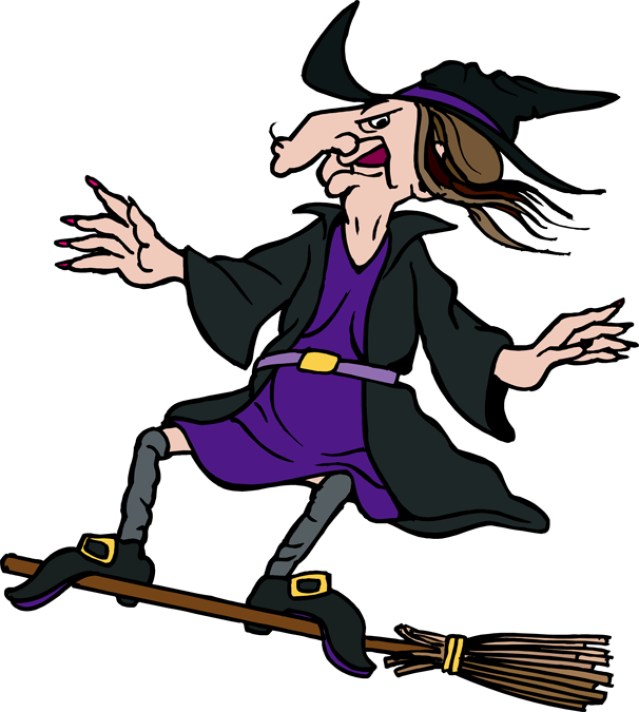639x712 Witch On A Broom Clipart