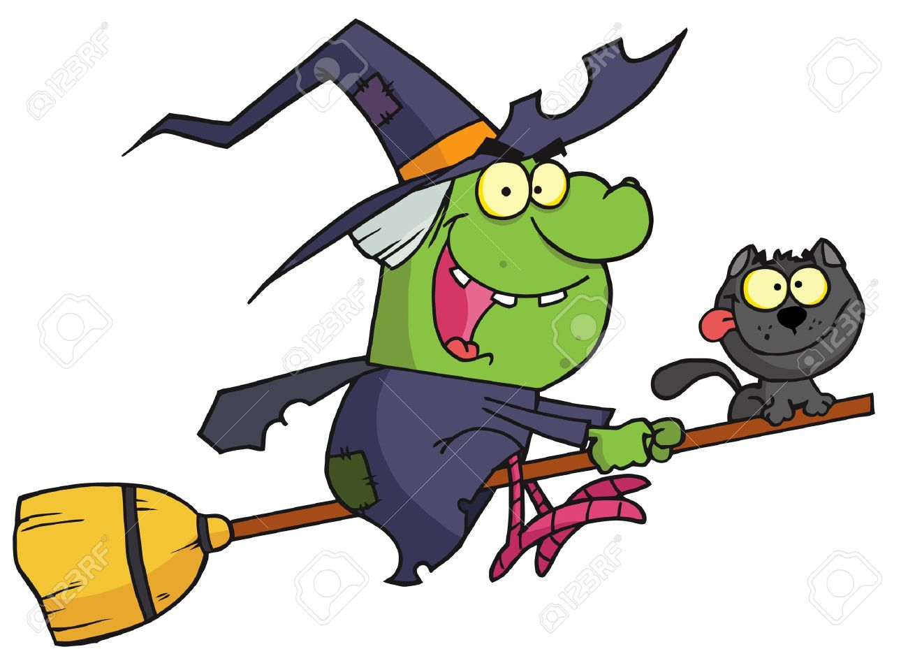 1300x959 Witch On Broom