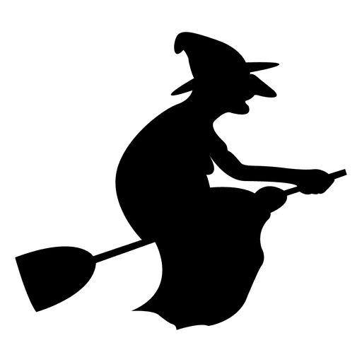 512x512 Witch On Broom