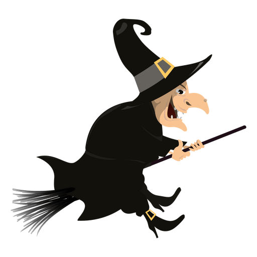 512x512 Witch On Broom 3