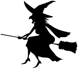 260x231 Witch On A Broomstick Clipart
