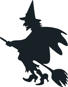 236x300 Halloween Witch Flying On A Broomstick Vector Graphics