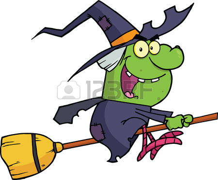 450x373 Vector Cartoon Clip Art Illustration Of An Ugly Or Scary Witch
